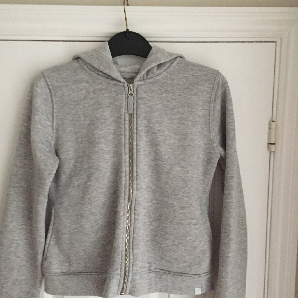 Girls Grey Hooded Top 13yrs