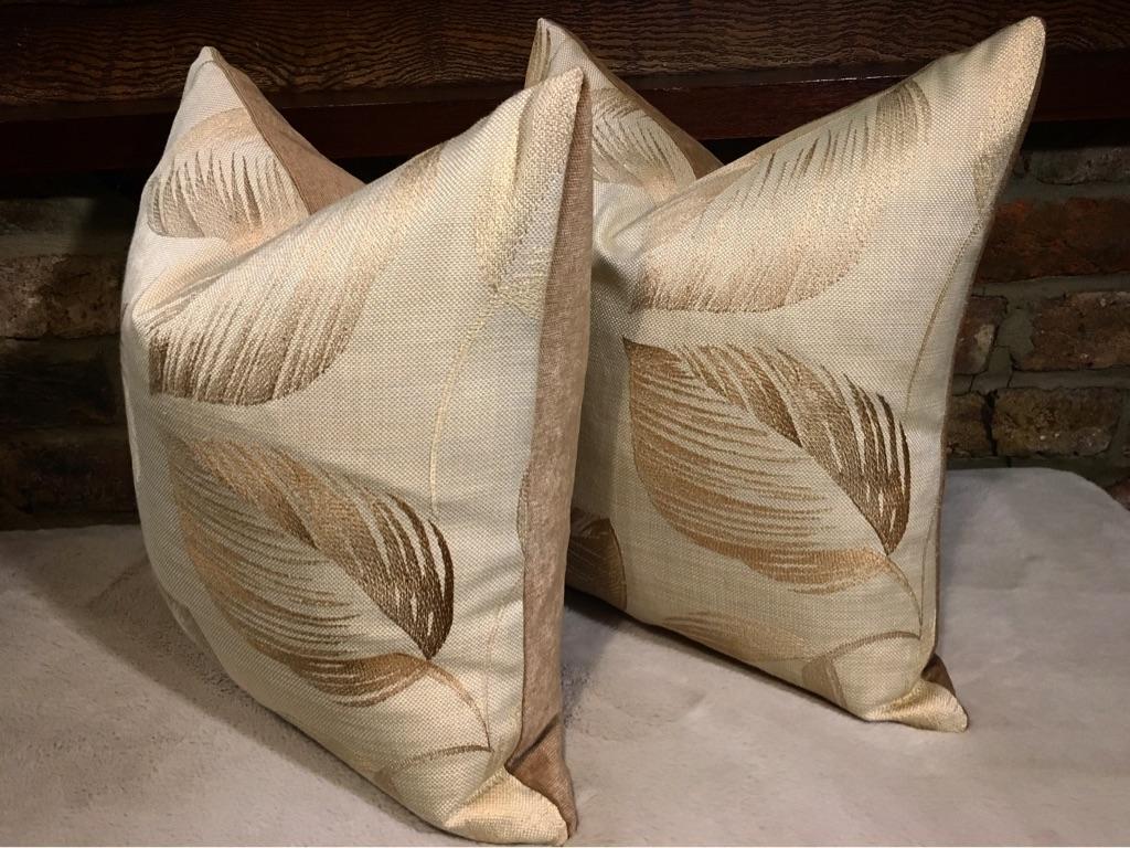 The set of 2 luxury handmade cushions