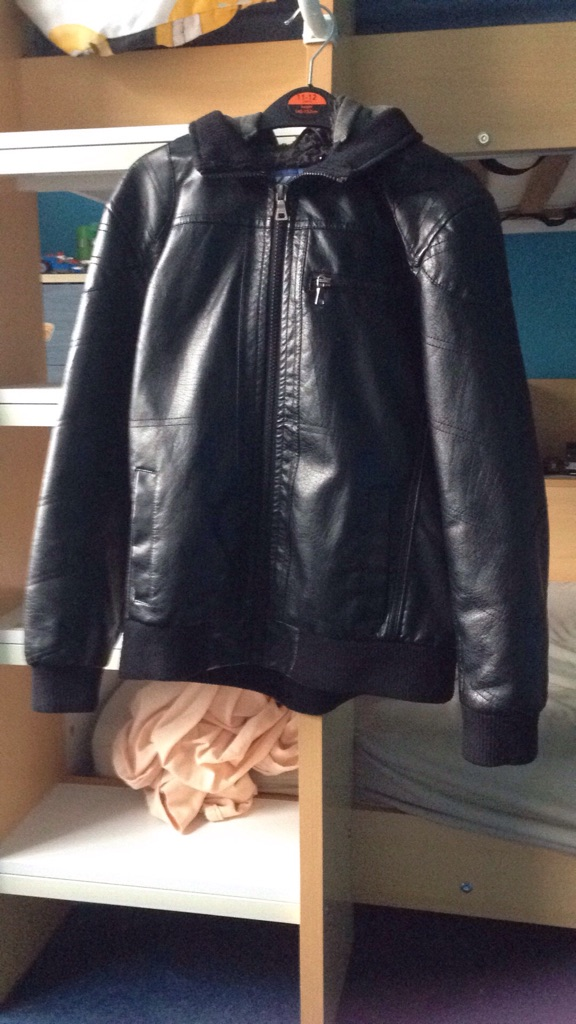 Faux leather coat 9-10