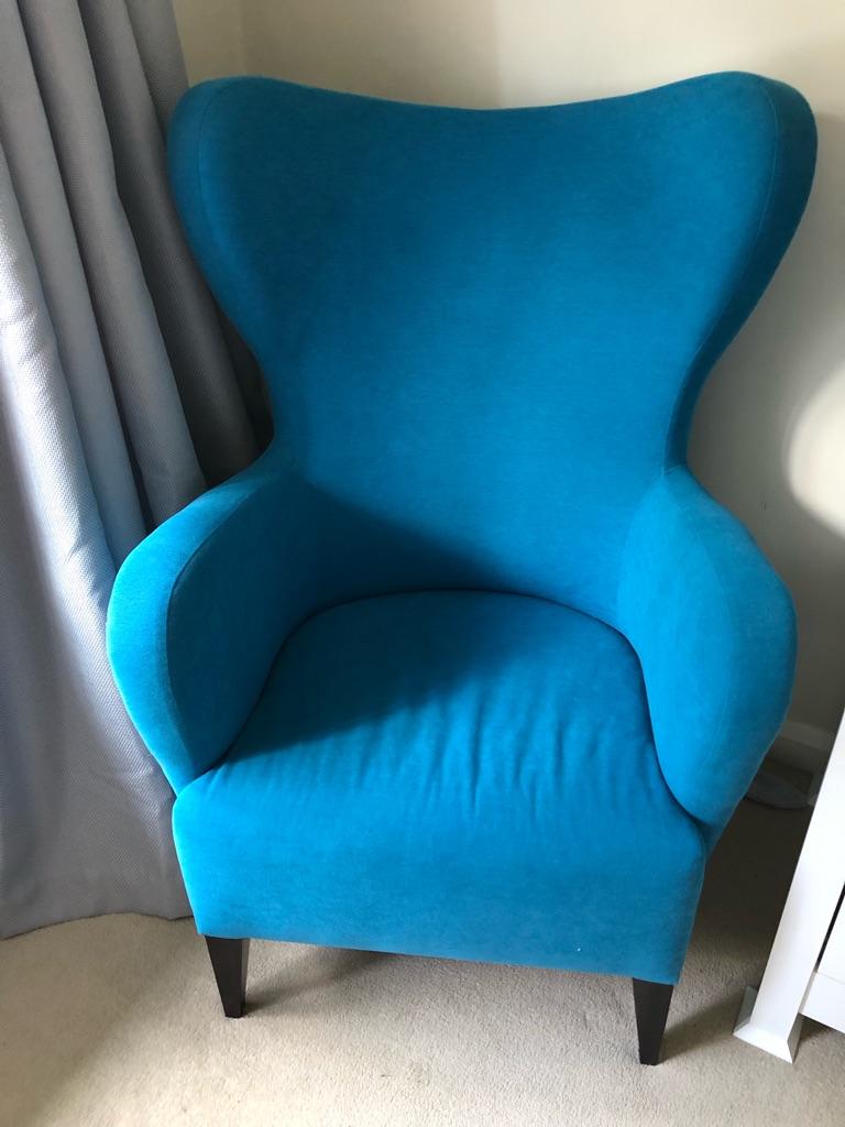 Bespoke blue armchair