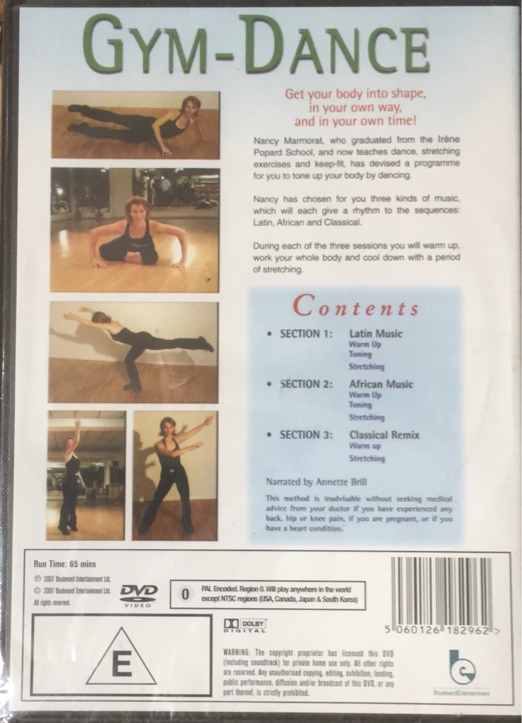 Gym- dance , with Nancy marmorat dvd brand new and factory sealed