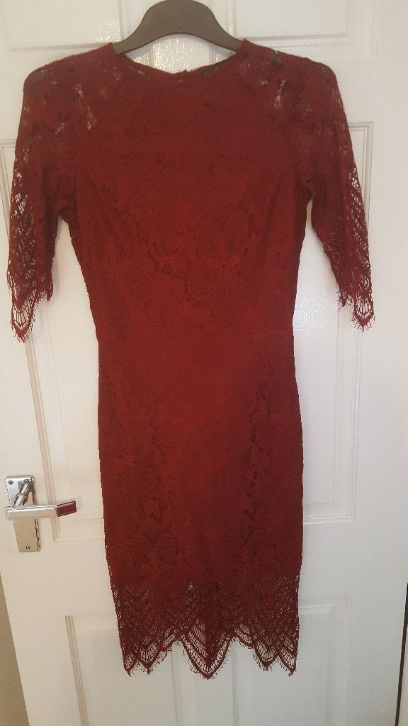 Rochelle Humes Eyelash Dress, size 8