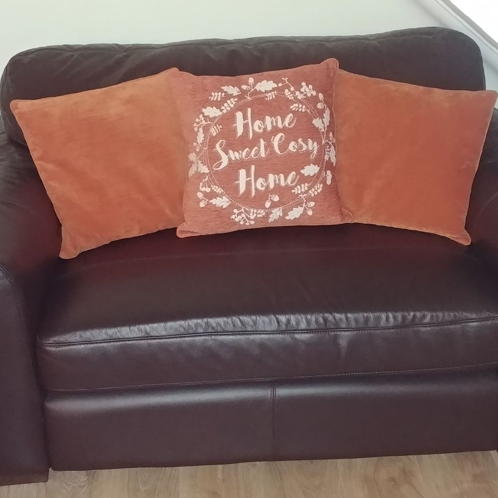 Brown leather Large 3 seat sofa and 2 seat sofa