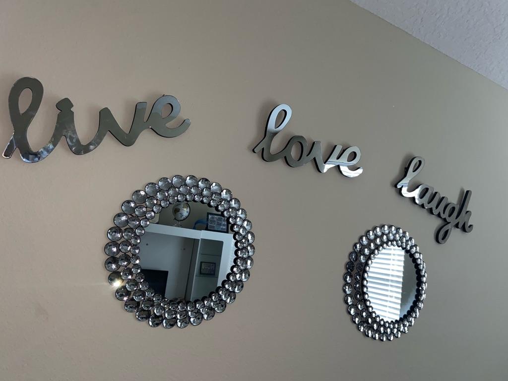 Live, Love, Laugh mirrors