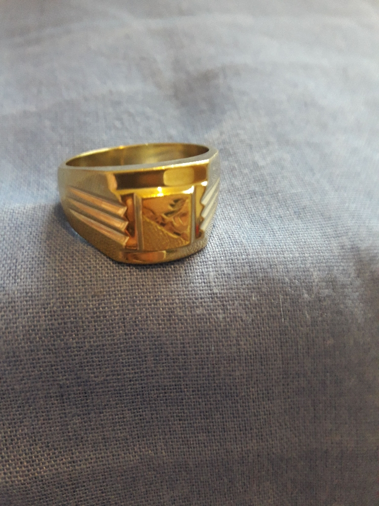 18k pure heavy gold ring