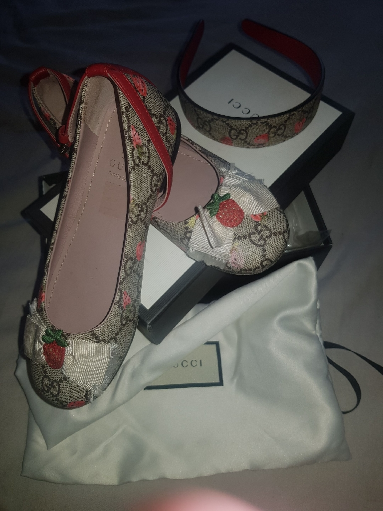 Children's Gucci Shoes and Matching Head Band