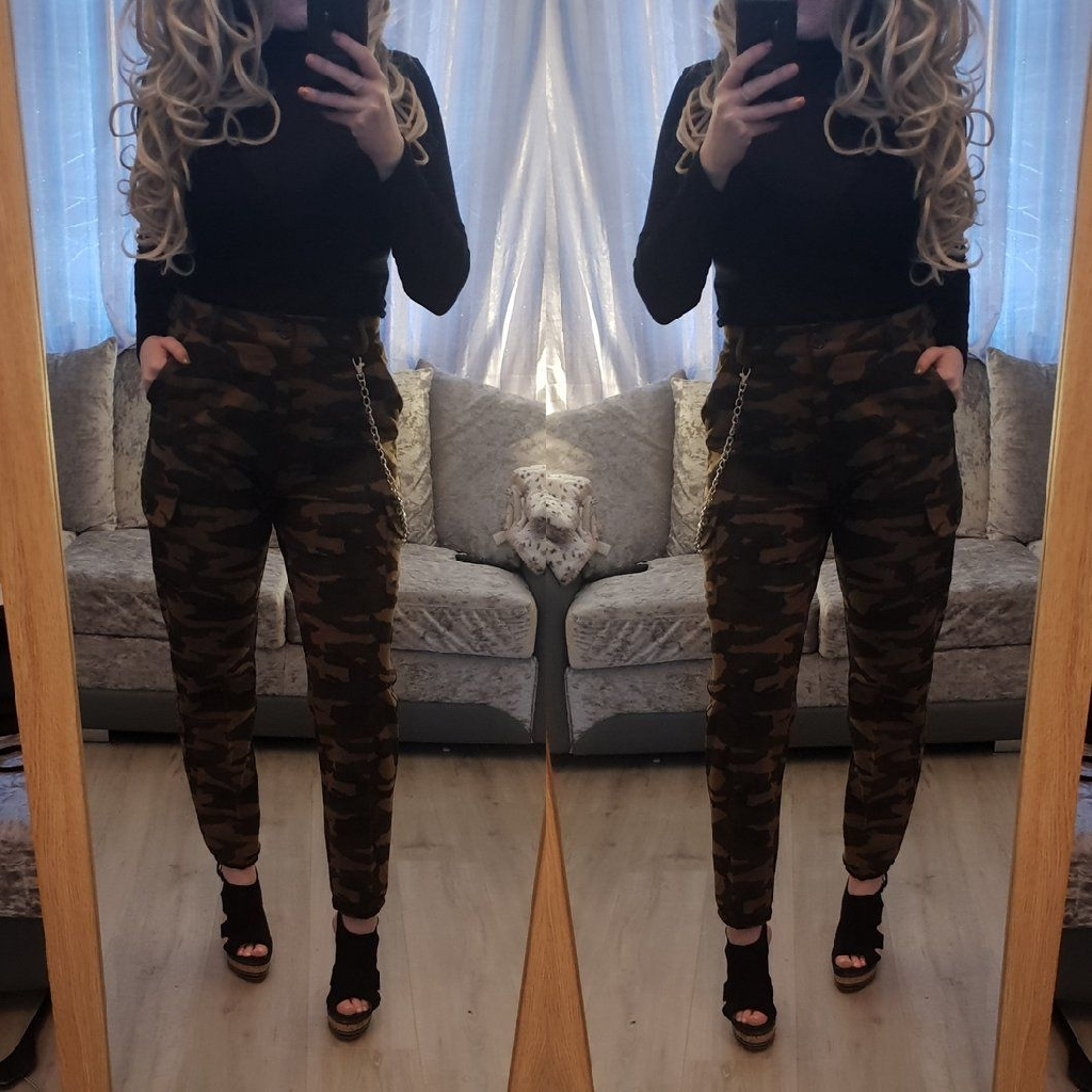 00Camo chain trousers also in black chain trousers