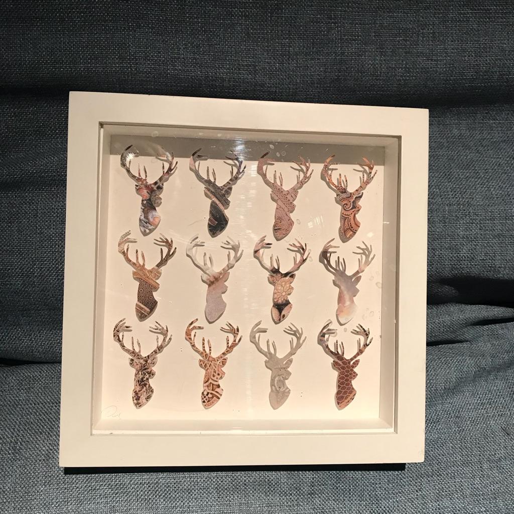Framed stag print