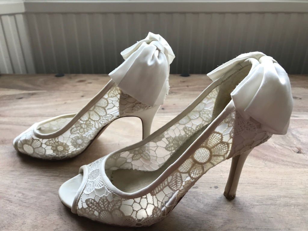 Monsoon 'Liliana' wedding shoes EUR size 39/ UK 6