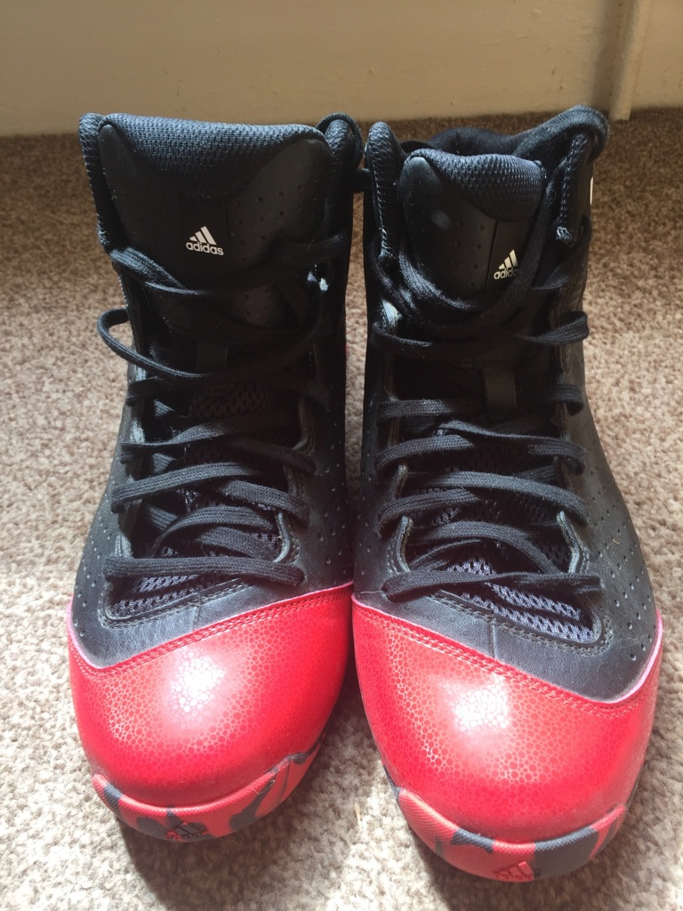Adidas Black Red basketball shoes