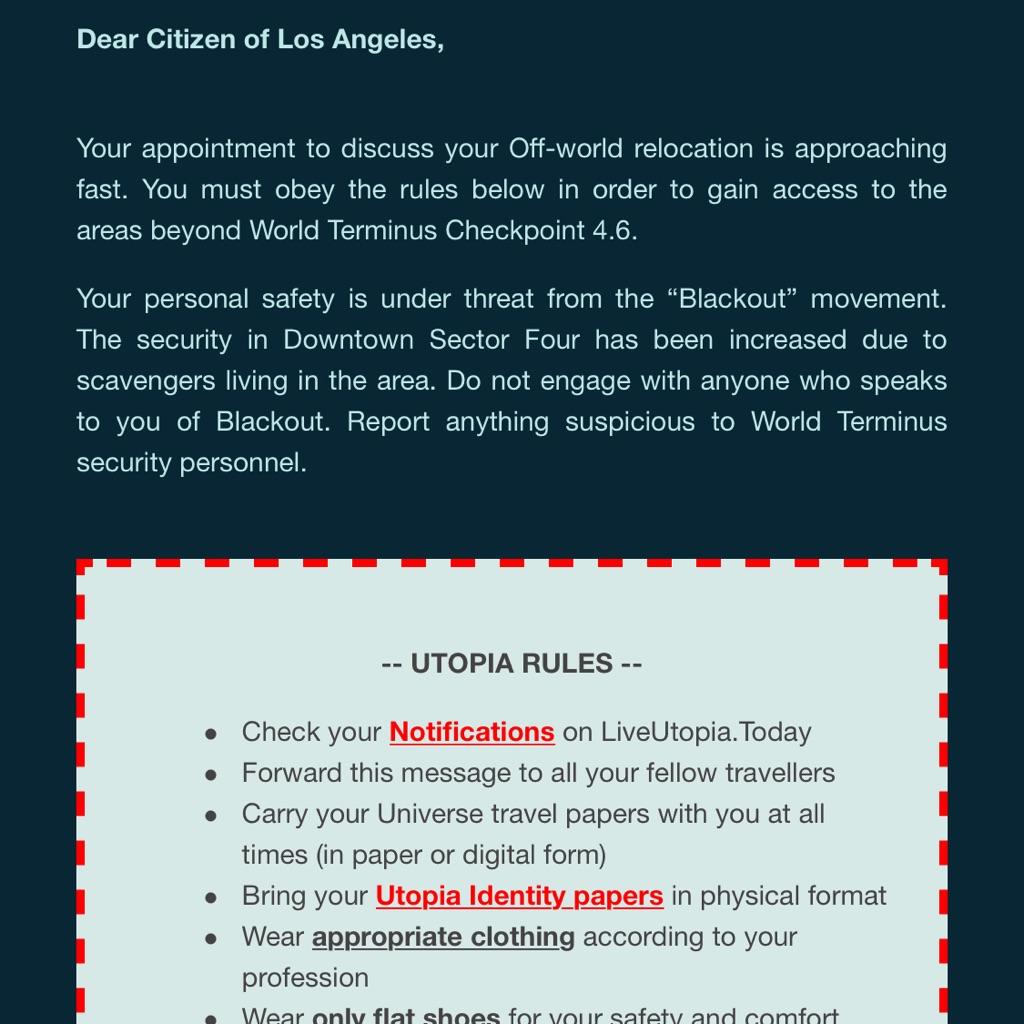 Secret Cinema Blade Runner x2 Advanced tickets June 6th