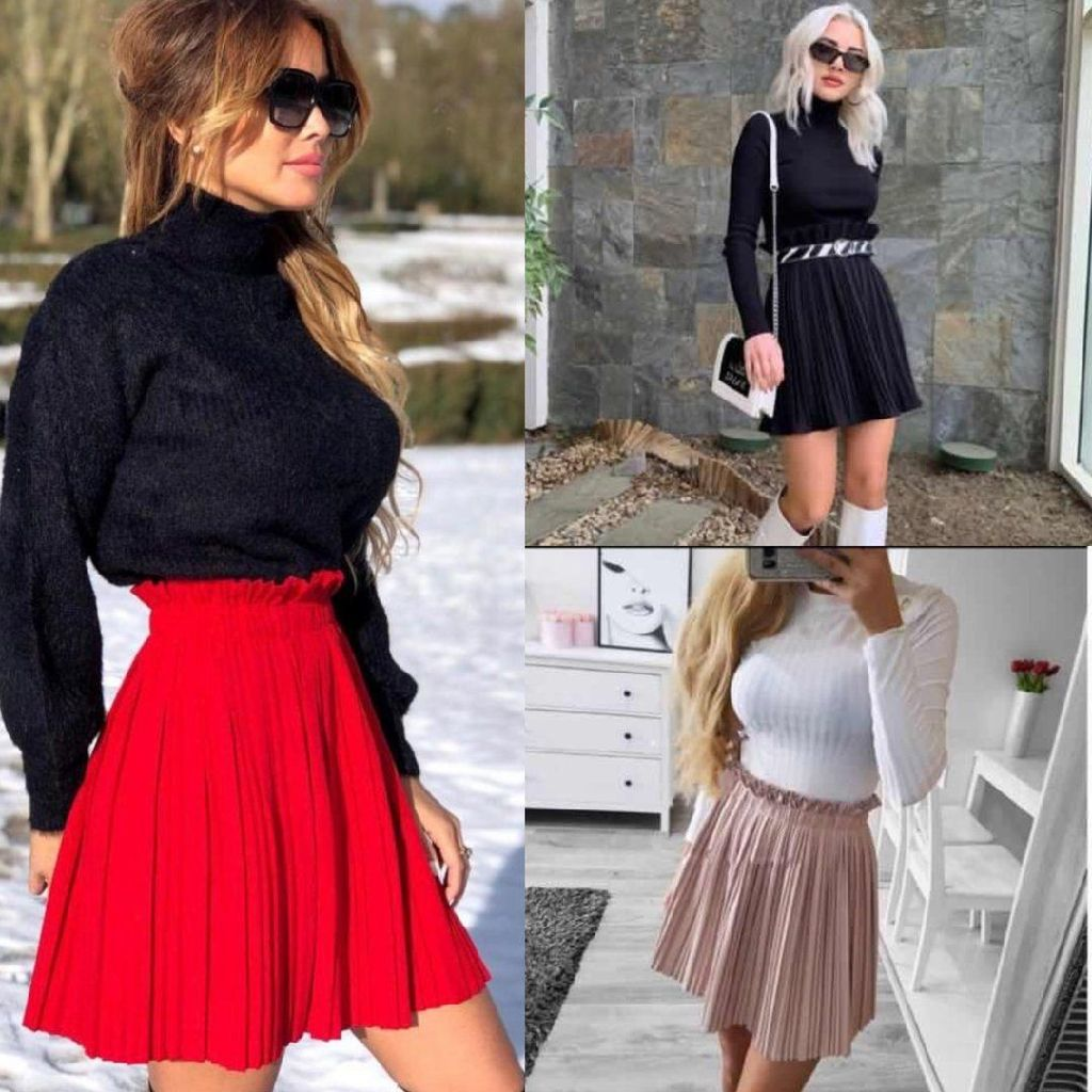 Anna Pleated Skirts - 3 colours