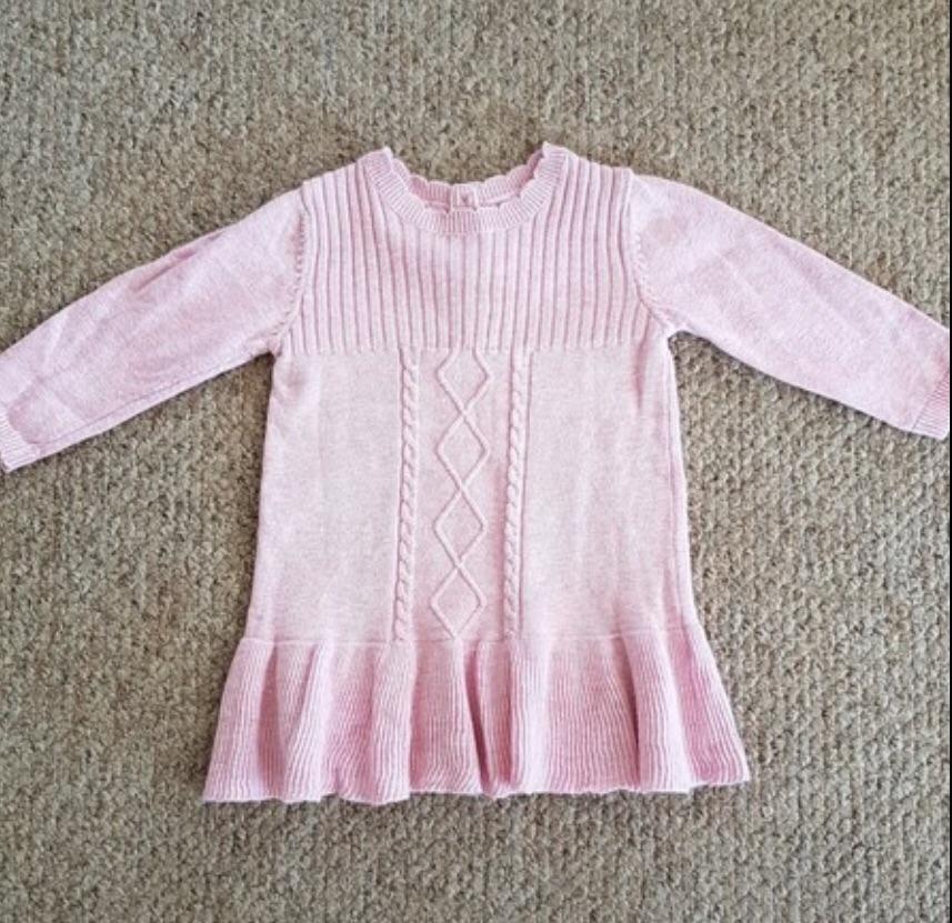Girls Jumper Dress 3-6 Months