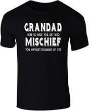 Men's grandad help you get into mischief funny slogan t-shirt