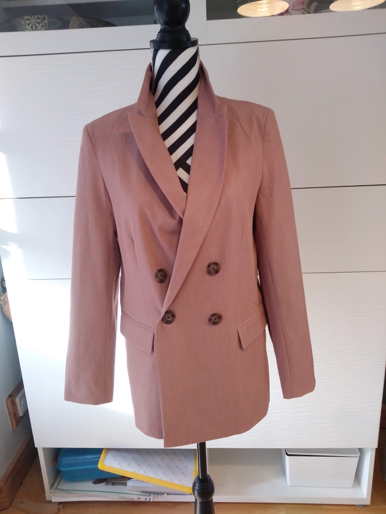 New Look Pink jacket with 2 trousers set UK10