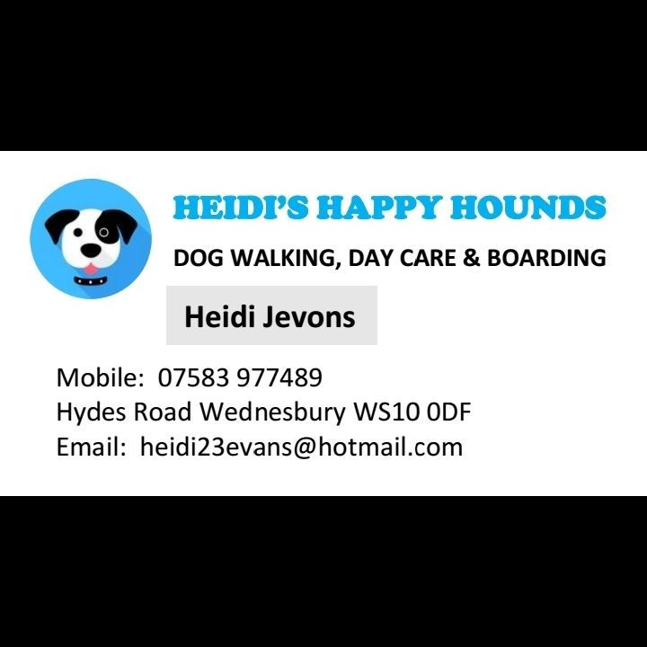 Heidi's Happy Hounds Dog Walking Day Care and Boarding Services