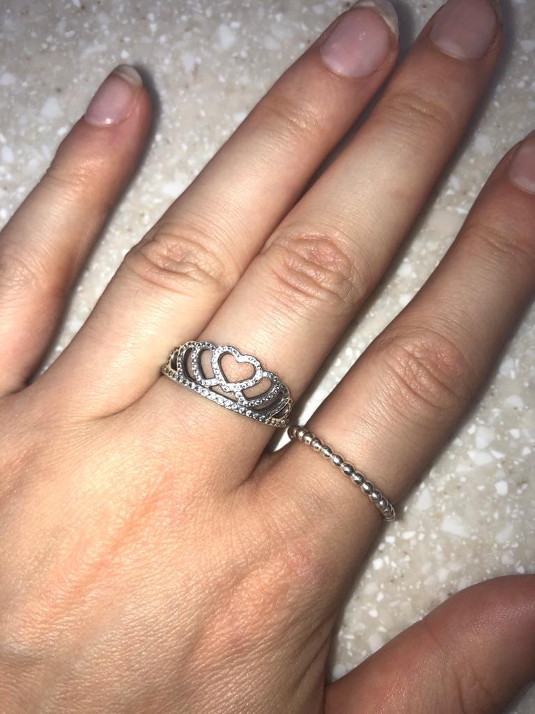 Hearts tiara pandora ring size 60
