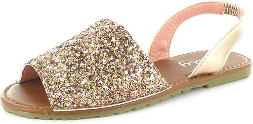 Women's ladies menorcan sling back peep toe summer sandals rose gold