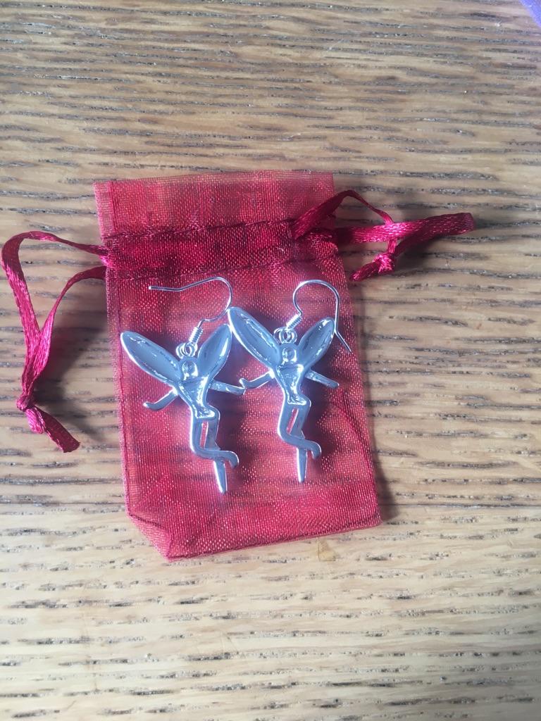 Fairy Earrings New in Organza Pouch