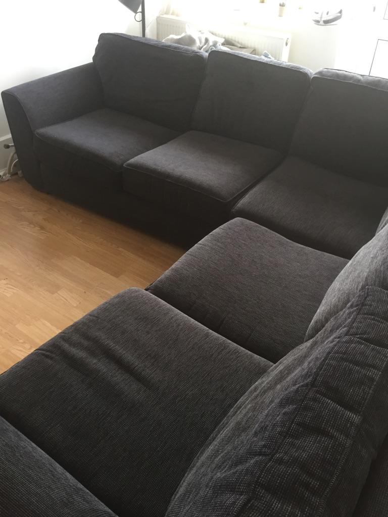 L-Shaped 6 Seater Charcoal Sofa in Great Condition!