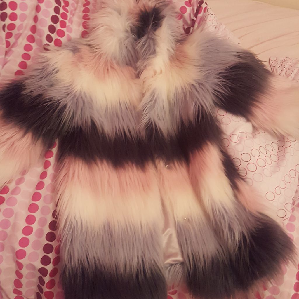 Next girls fur coat