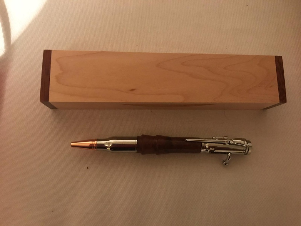 Hand turned writing pen
