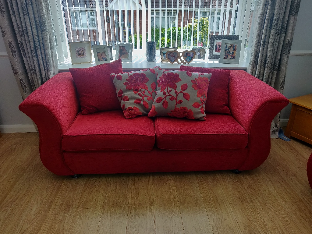 3+2 red sofa for sale