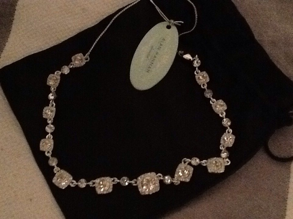 Alan Hannah Devoted silver and diamanté necklace (never worn)