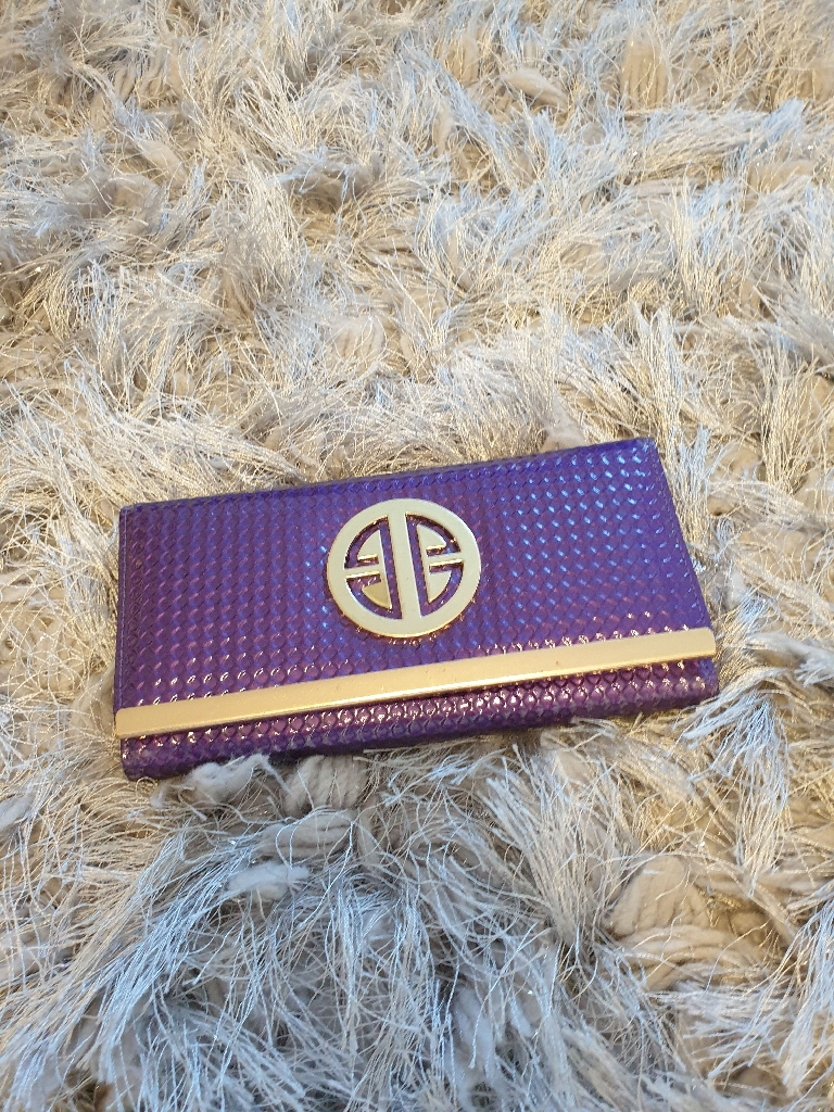 Purple/gold purse