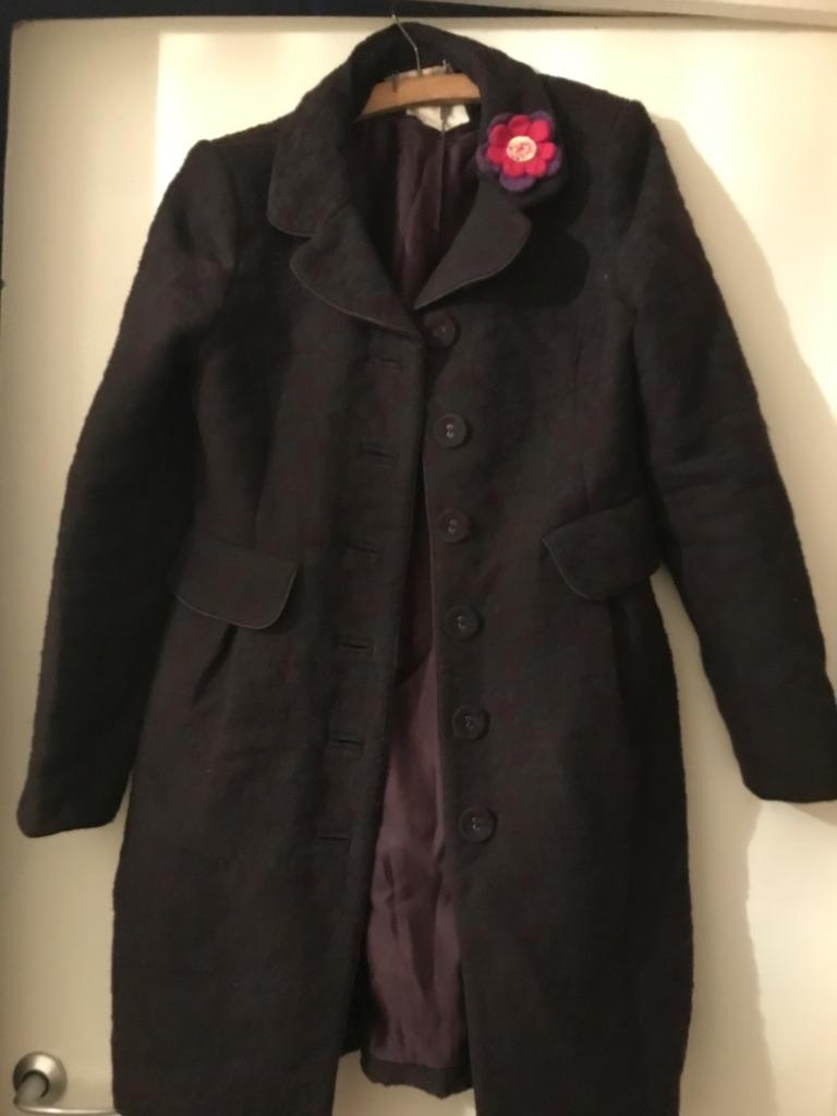 Monsoon Women's Purple/Navy Winter Coat Size 12