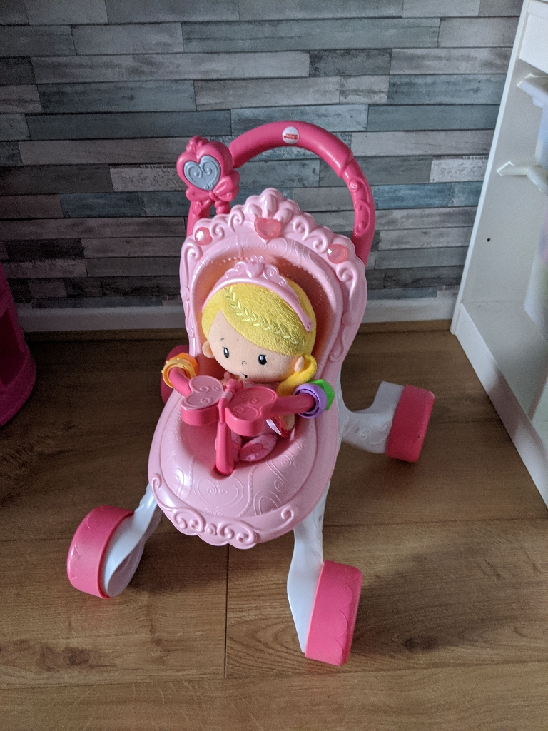 Fisher-Price Princess Stroll-Along Musical Walker and Doll