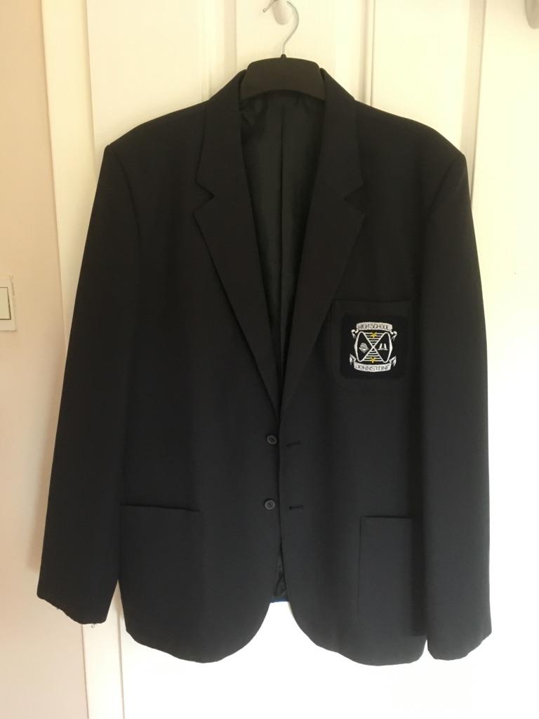 Boy's Navy Blazer Johnstone High Badge