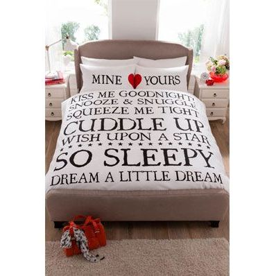 King Size Mine and Yours Duvet Se