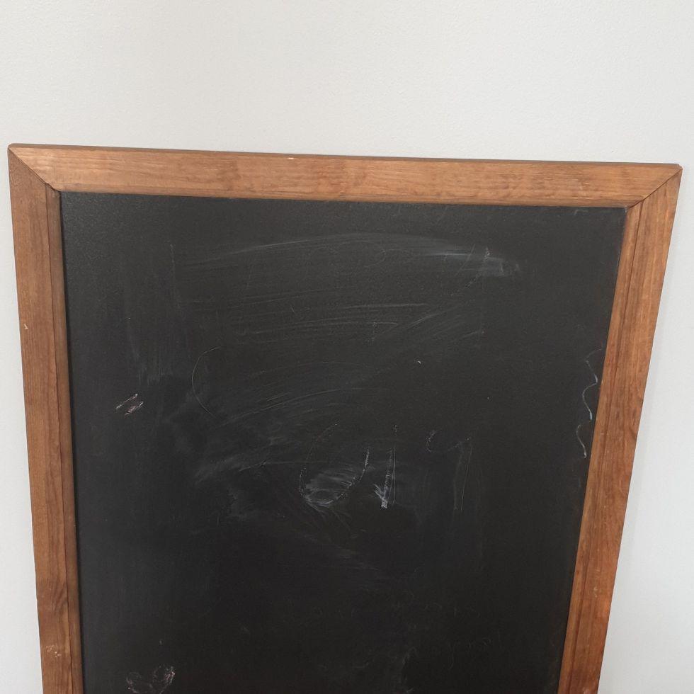 Large framed chalk board