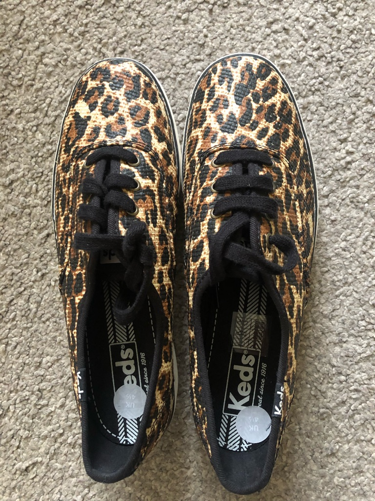 Ked's Leopard Lace-Up Sneakers Women Size 4.5
