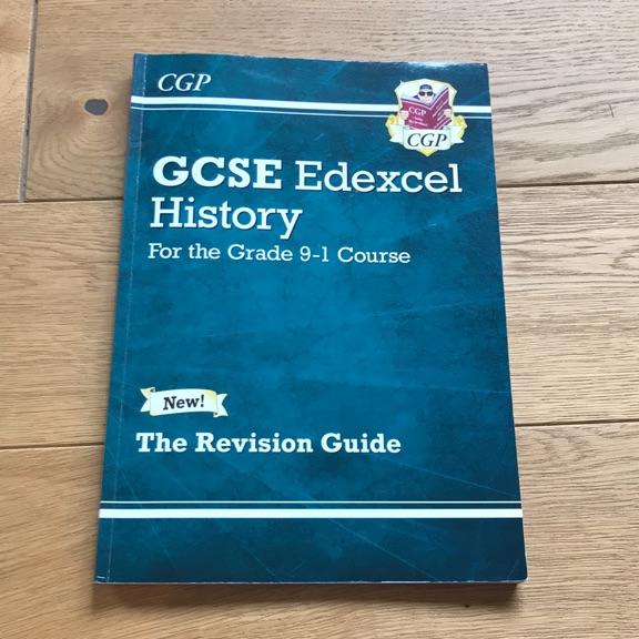 GCSE EDEXCEL HISTORY REVISION GUIDE