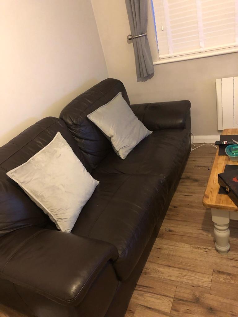 Brown Leather Sofa!