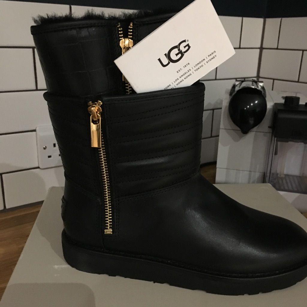 Leather UGG boots size 3.5