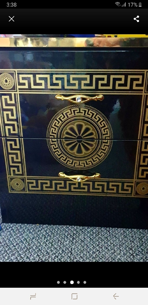 Versace greek inspired bedroom furniture