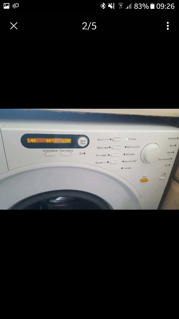 Miele White Novotronic Washing Machine