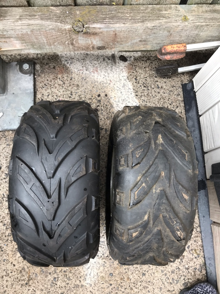 Set of tyres for a small size quad