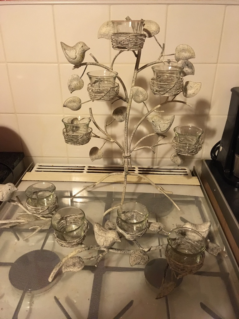 Partylite birds I branches candle holders set of 3