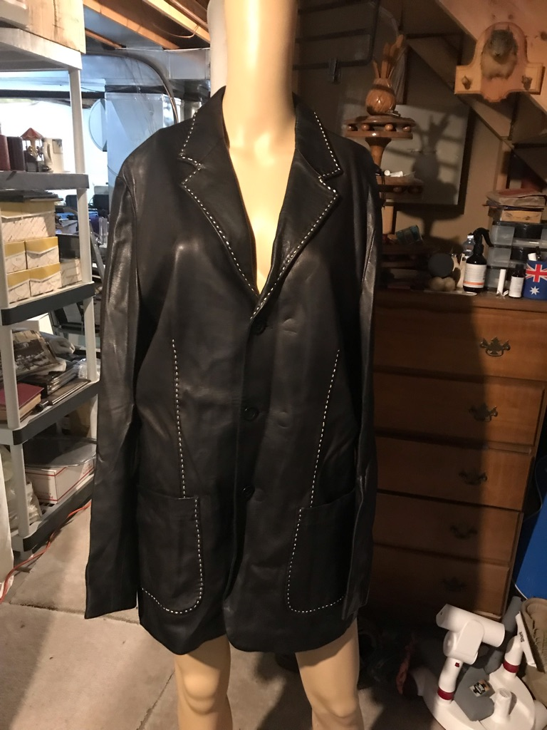 Andrea Pambini Single Breasted Italian Leather Blazer/Coat