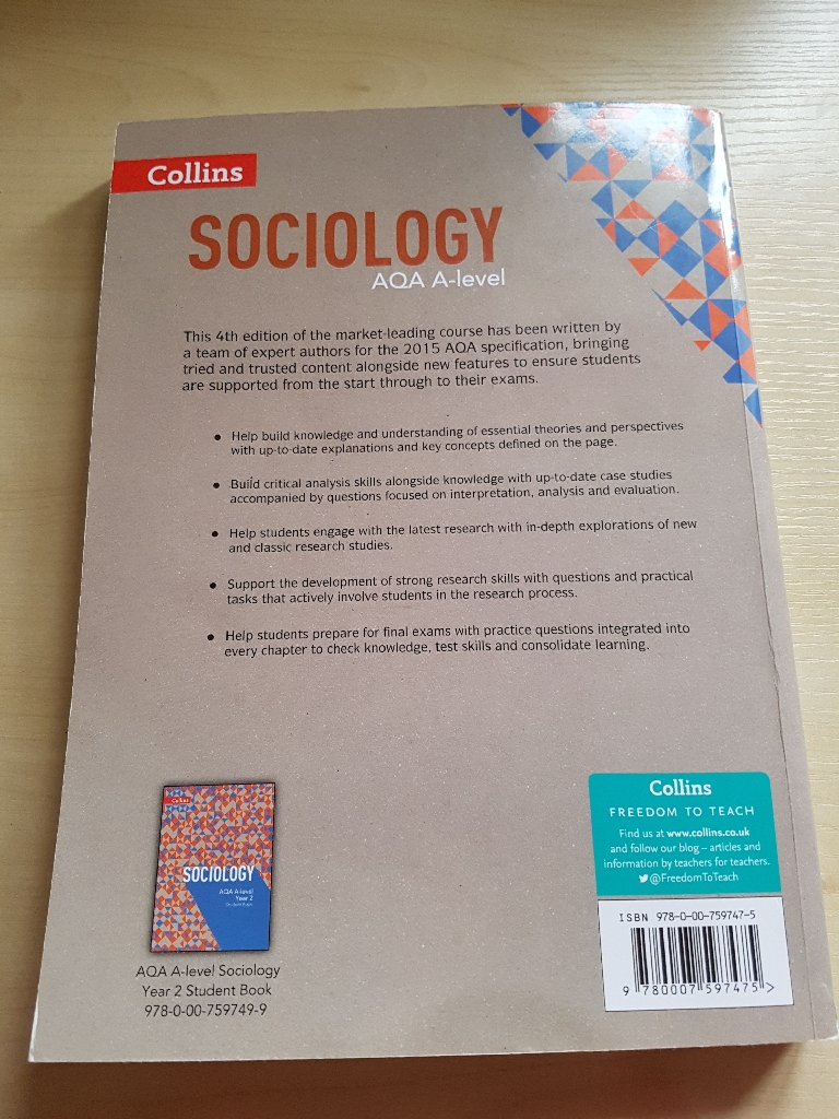 Sociology AQA A-level Year 1 and AS Student Book