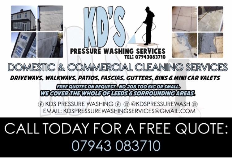 Pressuring washing service.