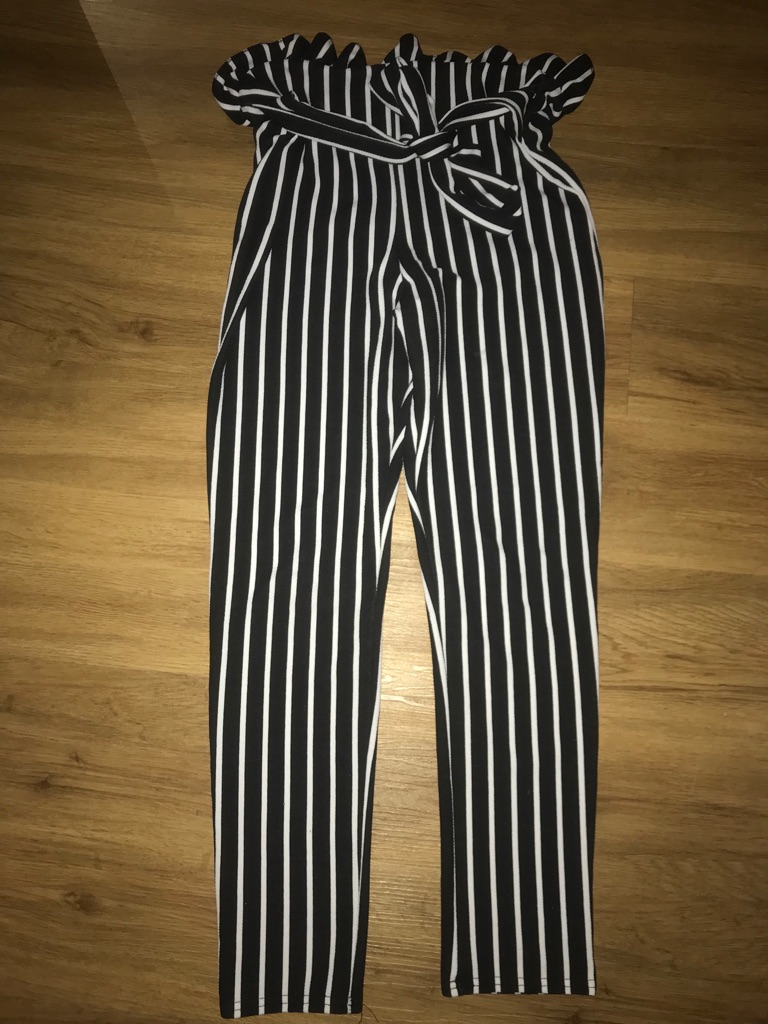 Size 12 striped trousers