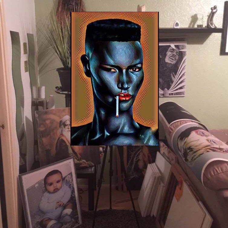 Grace Jones wallart canvas 60cm x 80cm wall art canvas ready to hang