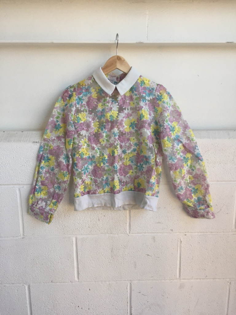 Design women shirt colourful pattern size 10