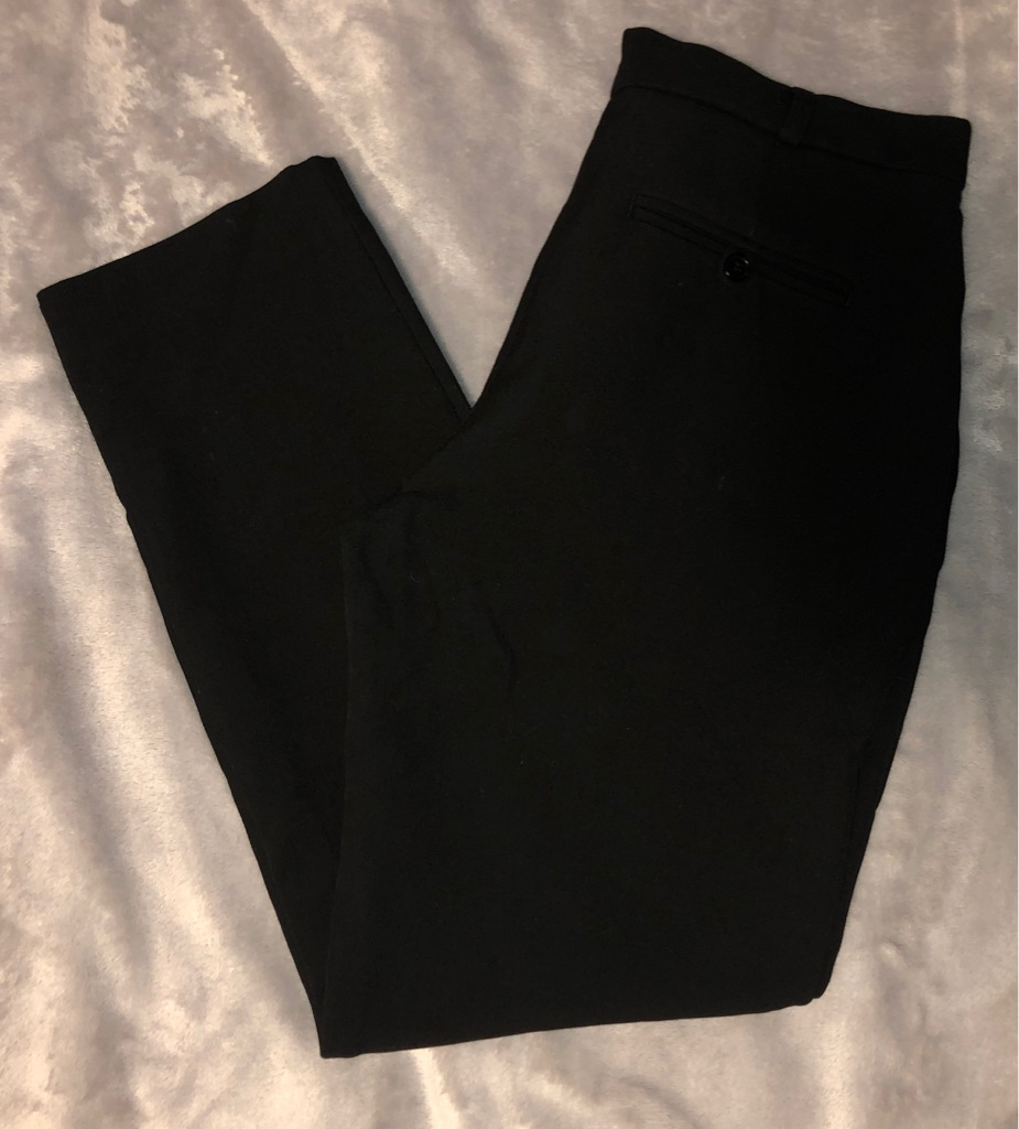 Whistles Black Tapered Trousers