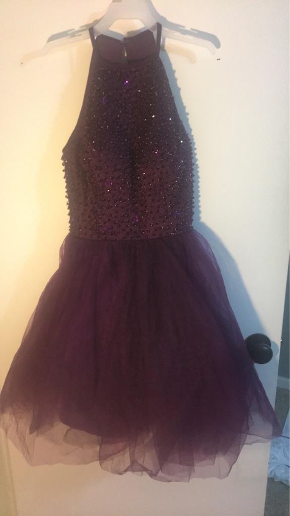 Plum Prom Dress